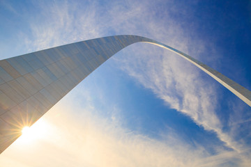 Top section of the Arch  St Louis