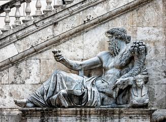 Ancient statue detail
