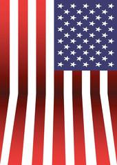 USA flag pattern background.