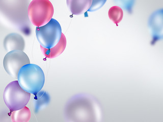 pink blue and purple balloons