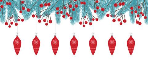 Winterlicher, weihnachtlicher Hintergrund mit Beeren