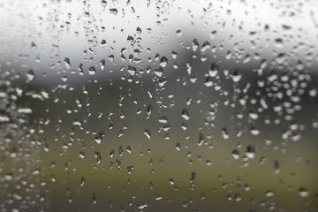 raindrops on a windowpane