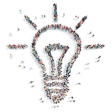 people  shape  light idea