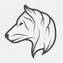 Wolf symbol, logo, emblem.