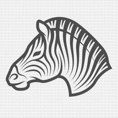 Zebra symbol, logo, emblem.