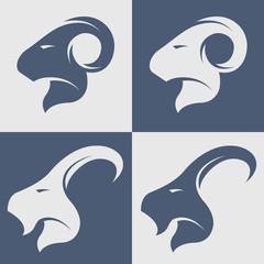 Sheep and goat symbol, logo, icon.