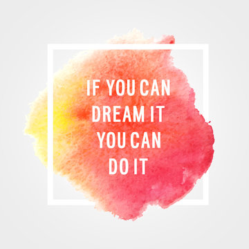 """Motivation poster """"You can do it""""."""
