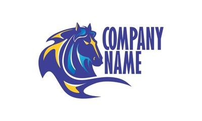 Blue Horse Vector Logo