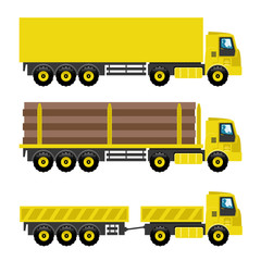 Vector set. Trucks.