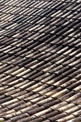 The roof in a colonial style in Santana de Parnaiba city
