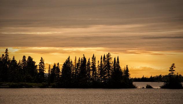 Lane Cove Sunset, Isle Royale National Park, Michigan, USA.