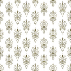 seamless texture with doodle pattern. vintage background