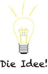 Eine Idee - Glühbirne als Idee - Die Idee