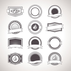 Vintage badges. Vector Retro Labels