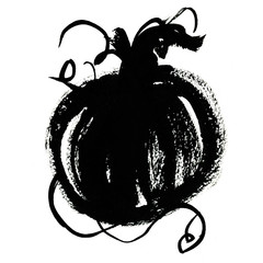 Black pumpkin illustration