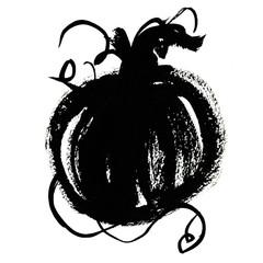 Black pumpkin illustration
