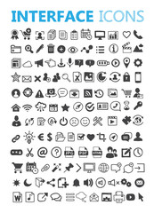 Hand drawn vector interface icons