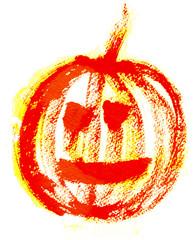 Red pumpkin illustration
