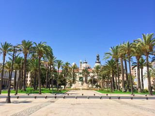 Park in the center of Cartagena in Spain