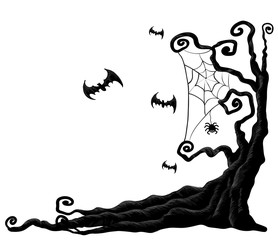 Halloween tree from vector