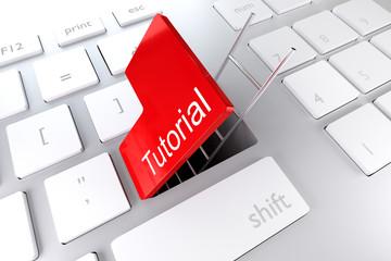 keyboard with red enter key hatch underpass ladder tutorial