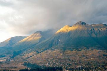 Imbabura inactive stratovolcano in northern Ecuador