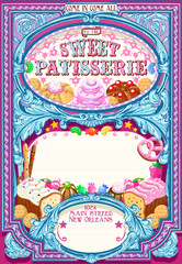 Candy Shop Invitation Vintage
