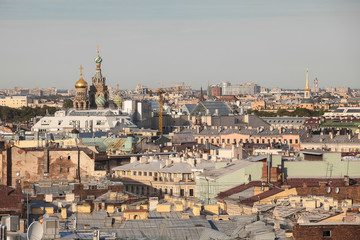 Old roofs in the center of St. Petersburg