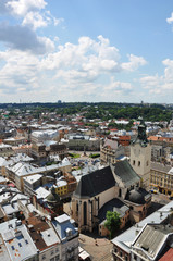 Panorama of Lviv, Ukraine