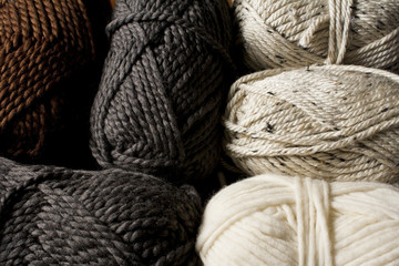 Neutral Colored Yarn Skeins