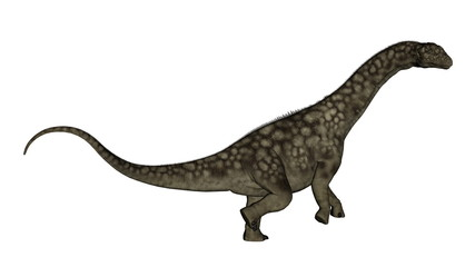 Argentinosaurus dinosaur standing up - 3D render