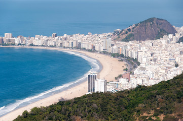 Wall Mural - View of the Copacabana Beach from the Sugarloaf Mountain