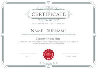 Certificate border vector elegant flourishes template