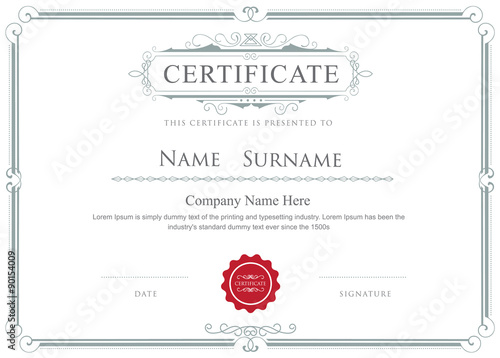 Certificate border vector elegant flourishes template stock image certificate border vector elegant flourishes template yadclub Image collections