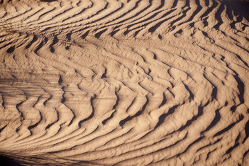 Ripples form on sand in the Australian outback