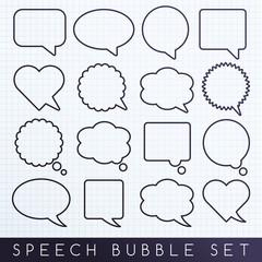 Speech Bubble Icon Set : Vector Illustration