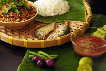 Fried Fish With Shrimp Paste Chili Dip