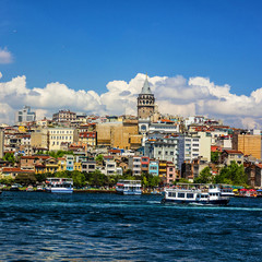 Galata tower in Istanbul, Turkey.