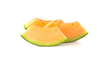 Melon orange on a white background.