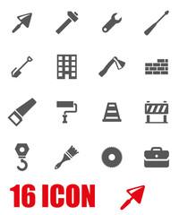 Vector grey construction icon set