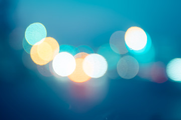 Abstract blur bokeh background light
