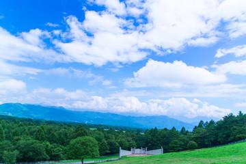 八ヶ岳からの青空