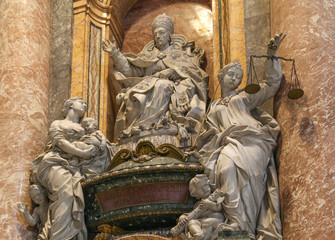 the sculpture in papal basilica of saint peter , vatican