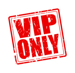 Vip only red stamp text