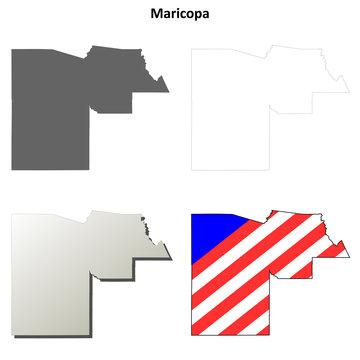 Maricopa County (Arizona) outline map set