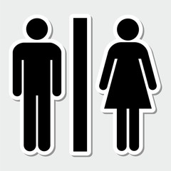 Toilets icon black and white