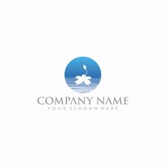 Moon Lake Logo simple stylish