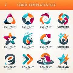 Logo and Abstract web Icon and globe vector identity symbol. Unusual icon and sticker set. Graphic design easy editable for Your design. Modern logotype icon.