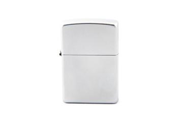 Photo gray closed gas lighter