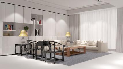 Elegantes Wohnzimmer mit Sofa im Loft